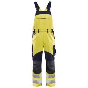 Blåkläder 2889-1512 Multinorm Bretelbroek Geel/Marineblauw