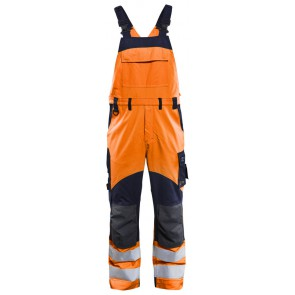 Blåkläder 2889-1513 Multinorm inherent bretelbroek High Vis Oranje/Marineblauw