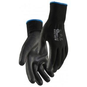 Blåkläder 2901-1453 PU-gedipte handschoen 12-pack Zwart