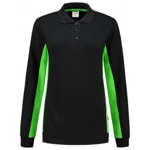 Tricorp 302002 Polosweater Bicolor Dames Zwart/Lime