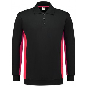 Tricorp 302003 Polosweater Bicolor Zwart/Rood