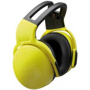 MSA gehoorkap left/RIGHT HIGH met hoofdbeugel geel SNR 33 dB(A) (10087399)
