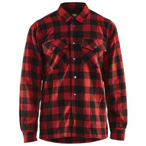 Blåkläder 3225-1131 Overhemd Flanel Gevoerd Rood/Zwart