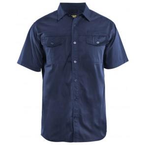 Blåkläder 3296-1190 Overhemd korte mouw Marineblauw