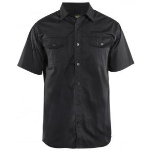 Blåkläder 3296-1190 Overhemd korte mouw Zwart