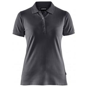 Blåkläder 3307-1035 Dames Poloshirt Piqué Donkergrijs