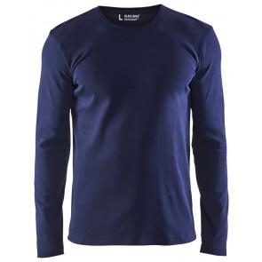 Blåkläder 3314-1032 T-shirt lange mouwen Marineblauw