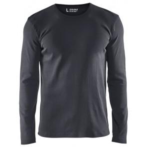 Blåkläder 3314-1032 T-shirt lange mouw Donkergrijs