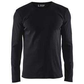Blåkläder 3314-1032 T-shirt lange mouwen Zwart