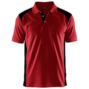 Blåkläder 3324-1050 Poloshirt Piqué Rood/Zwart