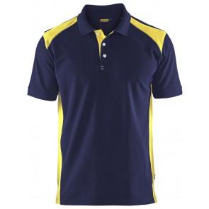 Blåkläder 3324-1050 Poloshirt Piqué Marineblauw/Geel