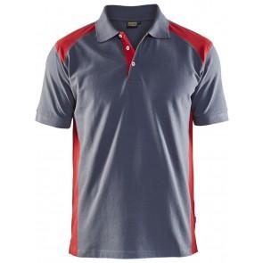 Blåkläder 3324-1050 Piqué Polo Grijs/Rood