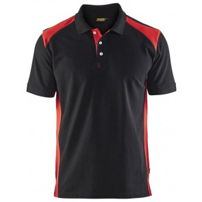 Blåkläder 3324-1050 Piqué Polo Zwart/Rood
