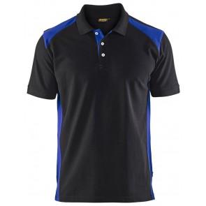 Blåkläder 3324-1050 Piqué Polo Zwart/Korenlblauw