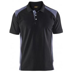 Blåkläder 3324-1050 Piqué Polo Zwart/Grijs