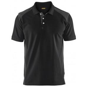 Blåkläder 3324-1050 Poloshirt Piqué Zwart/Grijs