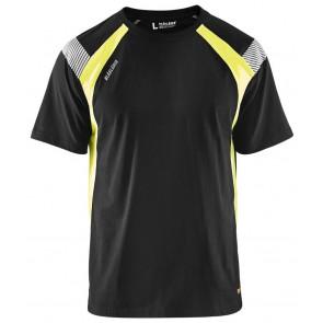 Blåkläder 3332-1030 T-shirt Visible Zwart/Geel
