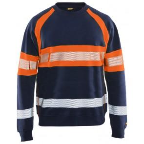 Blåkläder 3359-1158 Sweater High Vis Marineblauw/Oranje