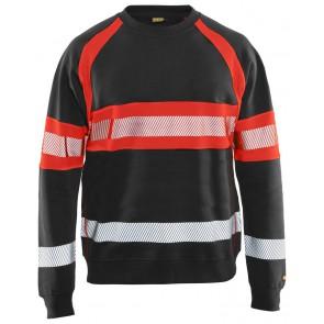 Blåkläder 3359-1158 Sweater High Vis Zwart/Fluor Rood