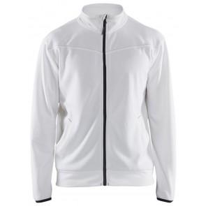 Blåkläder 3362-2526 Service Sweatshirt met rits Wit/Donkergrijs