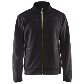 Blåkläder 3362-2526 Service Sweatshirt met rits Zwart/Geel