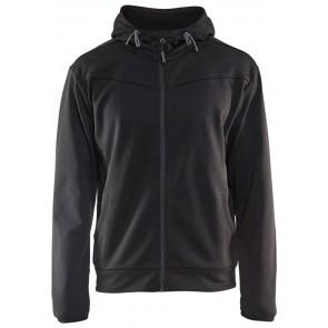Blåkläder 3363-2526 Hoodie with full zipper Zwart/Grijs