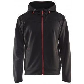 Blåkläder 3363-2526 Hoodie met rits Zwart/Rood