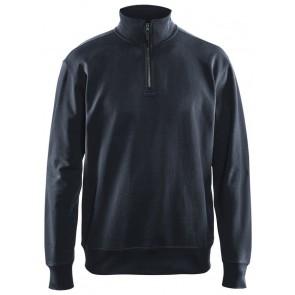 Blåkläder 3369-1158 Sweatshirt met halve rits Marineblauw