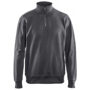 Blåkläder 3369-1158 Sweatshirt met halve rits Donkergrijs