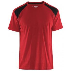 Blåkläder 3379-1042 T-shirt Bi-Colour Rood/Zwart