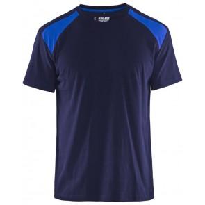 Blåkläder 3379-1042 T-shirt Bi-Colour Marineblauw/Korenblauw