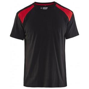 Blåkläder 3379-1042 T-shirt Bi-Colour Zwart/Rood