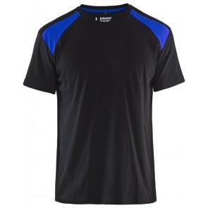 Blåkläder 3379-1042 T-shirt Bi-Colour Zwart/Korenblauw