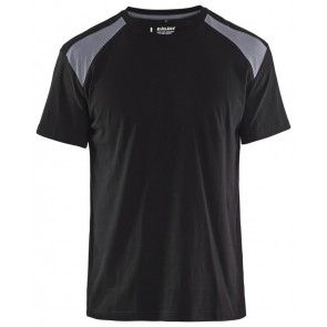 Blåkläder 3379-1042 T-shirt Bi-Colour Zwart/Grijs