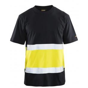 Blåkläder 3387-1030 T-shirt High Vis Zwart/Geel