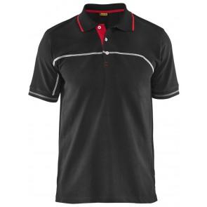 Blåkläder 3389-1050 Piqué (3327) zonder borduring Zwart/Rood