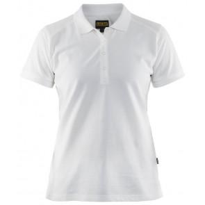 Blåkläder 3390-1050 Dames Poloshirt Piqué Wit