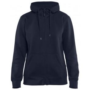 Blåkläder 3395-1048 Dames Hoodie met rits Marineblauw