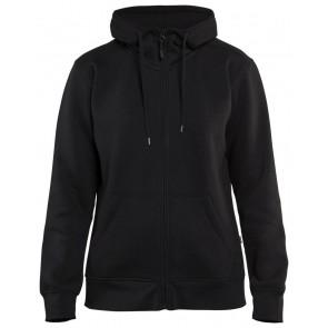 Blåkläder 3395-1048 Dames Hoodie met rits Zwart