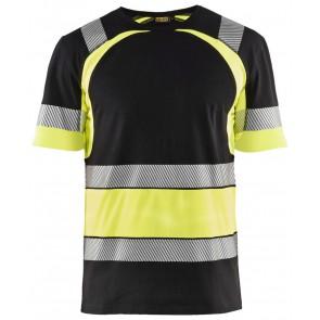 Blåkläder 3421-1030 T-shirt High Vis Zwart/Geel