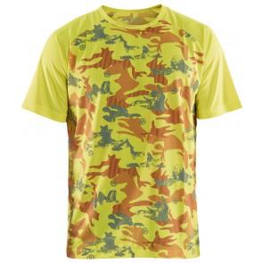 Blåkläder 3425-1011 T-shirt Geel/Grijs