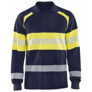 Blåkläder 3438-1726 Multinorm Piqué polo Marineblauw/Geel