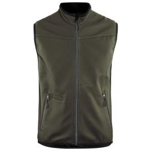 Blåkläder 3850-2516 Softshell Bodywarmer Groen/Zwart