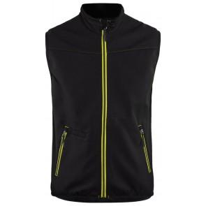 Blåkläder 3850-2516 Softshell Bodywarmer Zwart/Geel