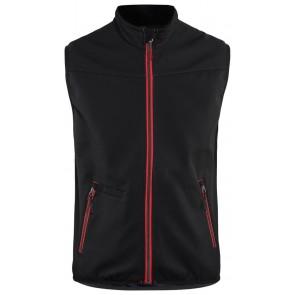 Blåkläder 3850-2516 Softshell Bodywarmer Zwart/Rood