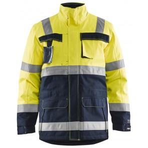 Blåkläder 4068-1530 Multinorm Winterjas Geel/Marineblauw