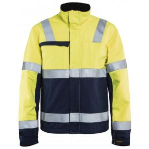 Blåkläder 4069-1514 Multinorm Winterjas Geel/Marineblauw