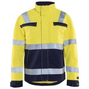 Blåkläder 4087-1514 Multinorm jas Geel/Marineblauw