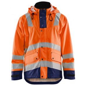 Blåkläder 4302-2003 Regenjas Heavy Weight Oranje/Marineblauw