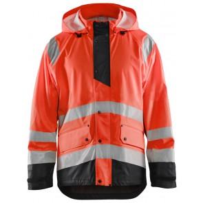 Blåkläder 4323-2000 High Vis Regenjas Level 1 High Vis Rood/Zwart